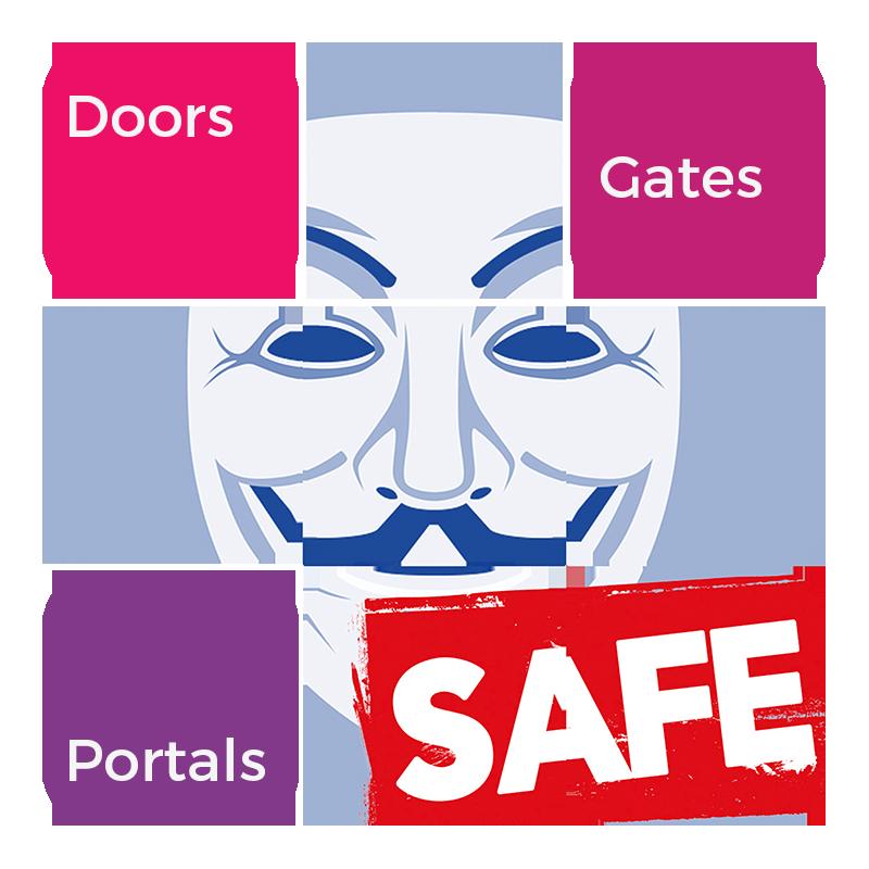 Anonymous safe secure access portal gate door
